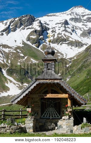 Chapel In The Mountains place of worship at Hohe Tauern in Austria