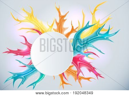 Abstract bright background with colorful splashes.Vector illustration.