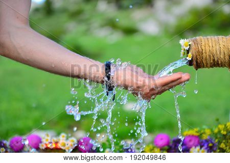 Drinkable cold water fountains in the mountains