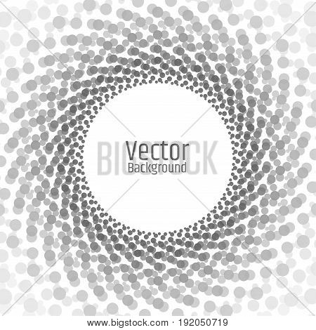 Abstract gray circle frame on white background