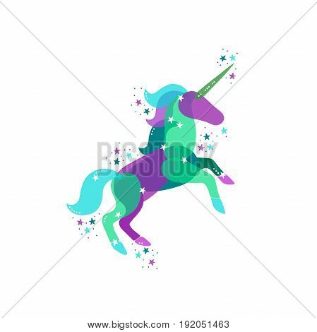 Unicorn. Sprockets. Isolated vector object on white background.