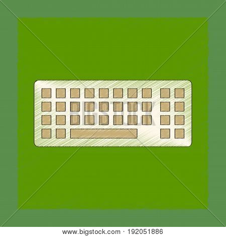 flat shading style icon of computer keyboard