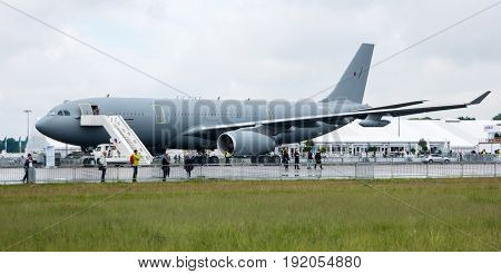 BERLIN GERMANY - JUNE 01 2016: The medical aircraft Airbus A310-304 MRTT MedEvac