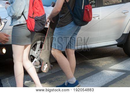 The Car Doesn't Pass Pedestrians