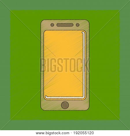 flat shading style icon of mobile phone