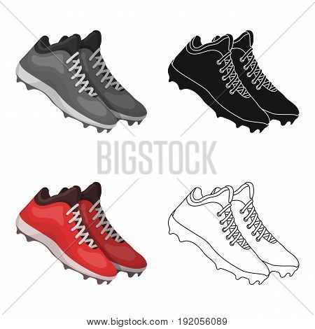 Baseball Sneakers. Baseball single icon in cartoon style vector symbol stock illustration .