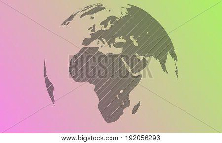 Vector Light globe and strokes for 45 degrees. Gradient background. Illustration. Eps10.