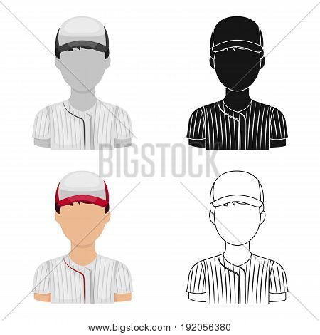 Baseball player. Baseball single icon in cartoon style vector symbol stock illustration .