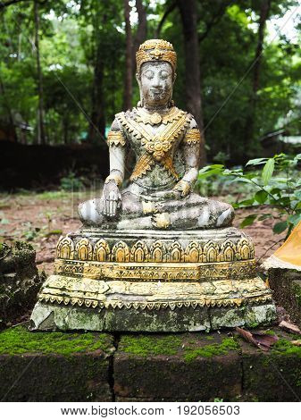Buddha Statue in northern part temple of Thailand.