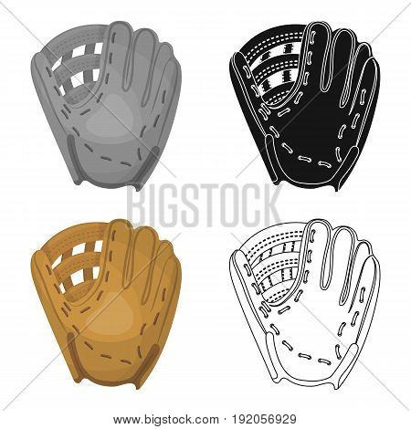 Glove trap. Baseball single icon in cartoon style vector symbol stock illustration .