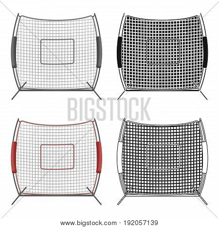 Protective fencing.Baseball single icon in cartoon style vector symbol stock illustration .