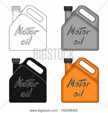 Can of engine oil.Car single icon in cartoon style vector symbol stock illustration .