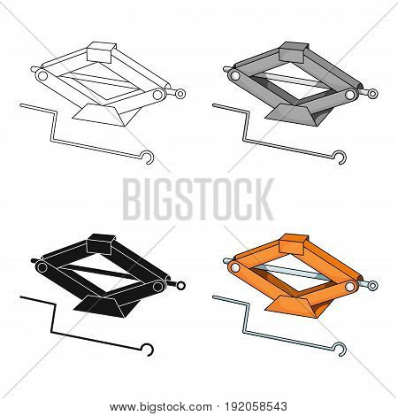 Mechanical Jack.Car single icon in cartoon style vector symbol stock illustration .