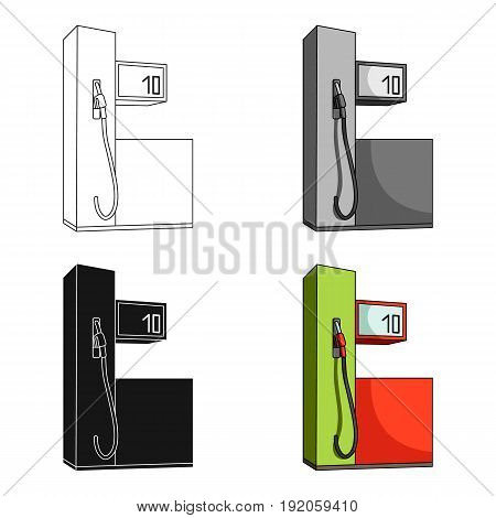 Gas station for cars.Car single icon in cartoon style vector symbol stock illustration .