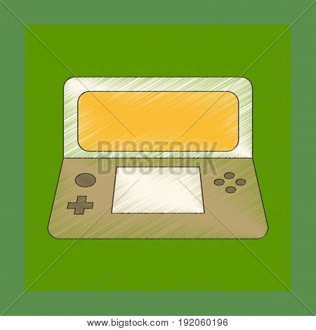 flat shading style icon of game console