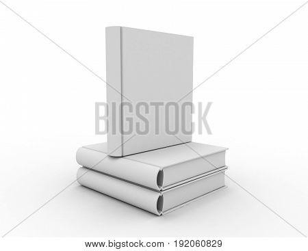 Hard Cover Book Concept. 3D Rendered Illustration
