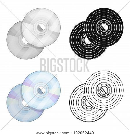 DVD discs.Making movie single icon in cartoon style vector symbol stock illustration .