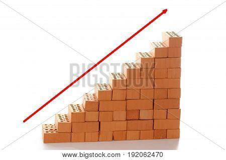 red upward arrow symbol for financial success