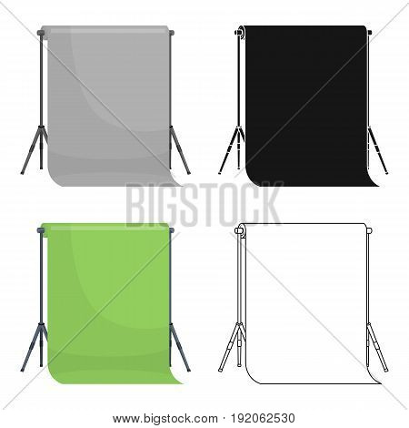 Background stand, hromakey, . Making a movie single icon in cartoon style vector symbol stock illustration .
