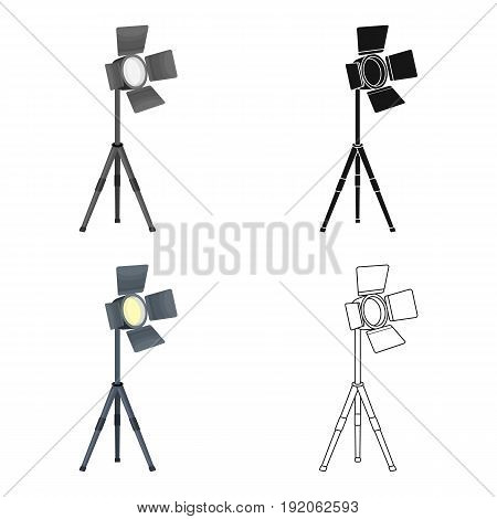 Searchlight for cinema.Making movie single icon in cartoon style vector symbol stock illustration .