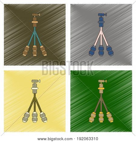 assembly flat shading style icon of technology tripod