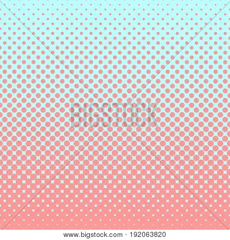 Halftone abstract background of circular elements in rose and complement colors and in the direction from bottom to top