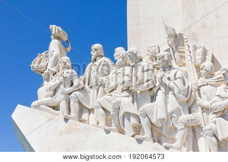 Monument of the Discoveries (Padro dos Descobrimentos) in the Tagus River bank, Belem, Lisbon, Portugal