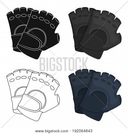 Protective gloves.Paintball single icon in cartoon style vector symbol stock illustration .