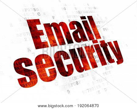 Security concept: Pixelated red text Email Security on Digital background