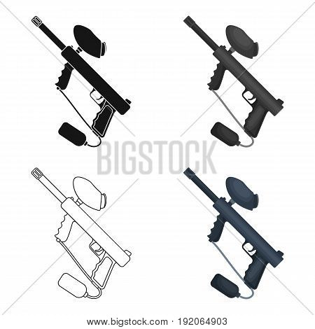 Marker for paintball.Paintball single icon in cartoon style vector symbol stock illustration .