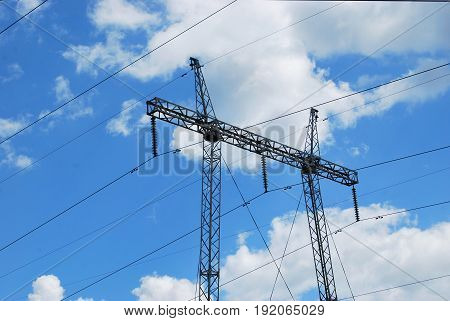 Electricity transmission power lines  (High voltage tower)