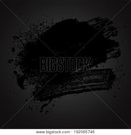 smudge and smear a black brush on a black background illustration clip-art