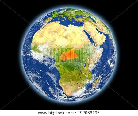Central Africa In Red From Space