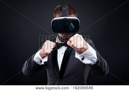 Rich Male Experiencing Virtual Reality