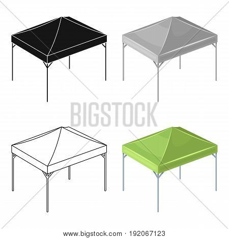 Awning for protection against sun and rain.Tent single icon in cartoon style vector symbol stock illustration .