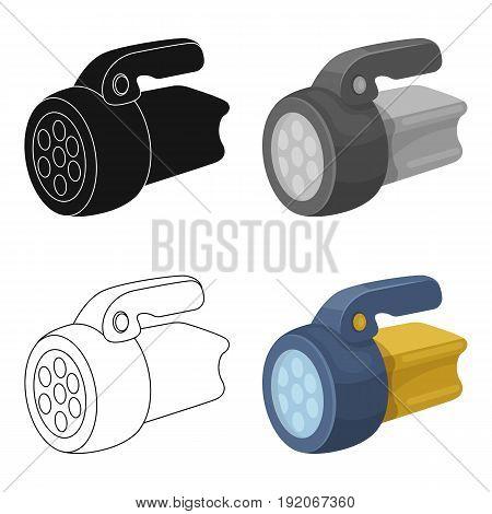 Flashlight.Tent single icon in cartoon style vector symbol stock illustration .
