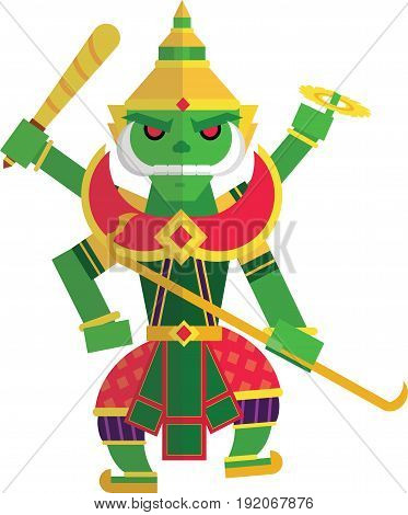 Toosakan is a giant in the Ramayana of Thailand.