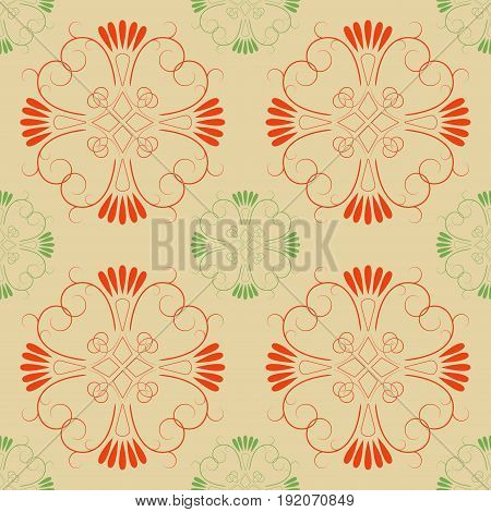 Abstract color seamless pattern. Fashion graphic background design. Modern stylish abstract texture. Colorful template for prints textiles wrapping wallpaper website etc. Vector illustration