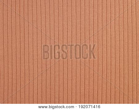 closeup brown fabric texture, pattern knitting wool surface background