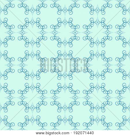 Abstract blue seamless pattern. Fashion graphic background design. Modern stylish abstract texture. Colorful template for prints textiles wrapping wallpaper website etc. Vector illustration