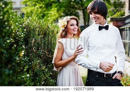 Wedding Photo  In Park