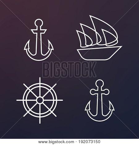 Barge, Cruise Ship, Shipping And Fishing Boat