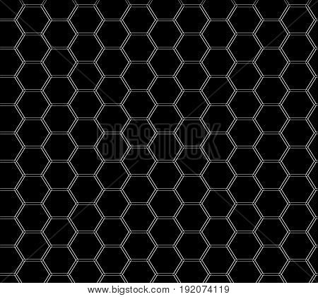 Honeycomb seamless pattern. Fashion graphic background design. Modern stylish abstract texture. Design monochrome template for prints textiles wrapping wallpaper website. Vector illustration