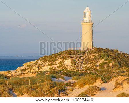 Bathurst Lighthouse on Rottnest Island near Perth in Western Australia.