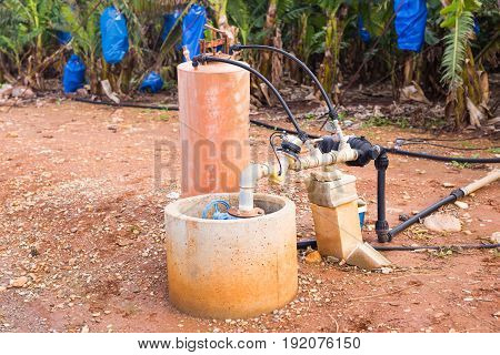 Irrigation systems, pipes and faucets for watering