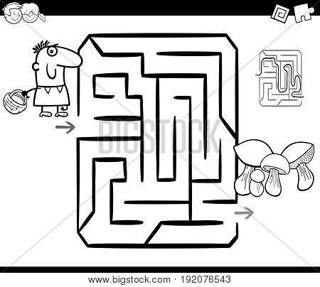 Mushrooming Maze Coloring Page