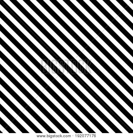 Black striped diagonal seamless pattern. Fashion graphic background design. Modern stylish abstract texture. Monochrome template for prints textiles wrapping wallpaper website. Vector illustration
