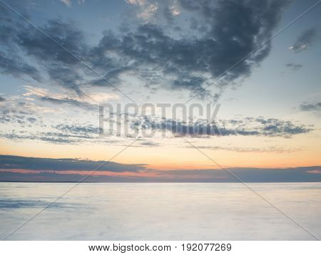 Seascape during sunset. Beautiful natural summer seascape