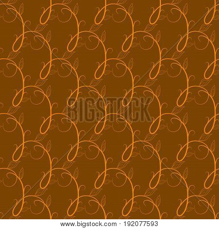 Twig yellow seamless pattern. Fashion graphic background design. Modern stylish abstract texture. Colorful template for prints textiles wrapping wallpaper website etc. Vector illustration