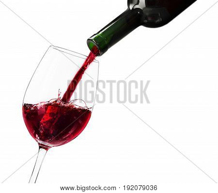 Red glass pouring wine pour red wine wine glass